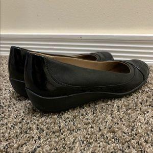 Life Stride Shoes - BLACK MEMORY FOAM FLATS